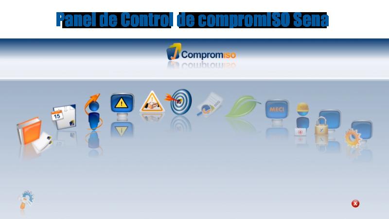 Panel de control de compromISO Sena