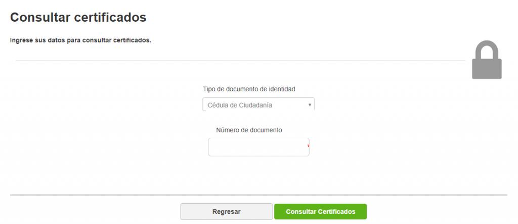 Portal de los certificados Sena
